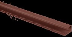 """Планка """"J - trim"""" Красно-коричневая Т-15 - 3,00м (А), Красно-коричневый"""