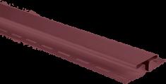 """Планка """"соединительная"""", 3м, цвет Гранатовый"""