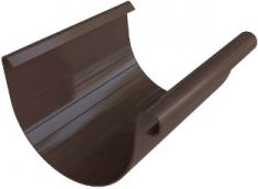 Жёлоб водосточный ПВХ 3м, диаметр 125 мм, Элит (цвет коричневый)